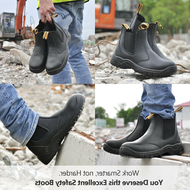 Safetoe Work Mens Shoes Steel Toe Water M-8025