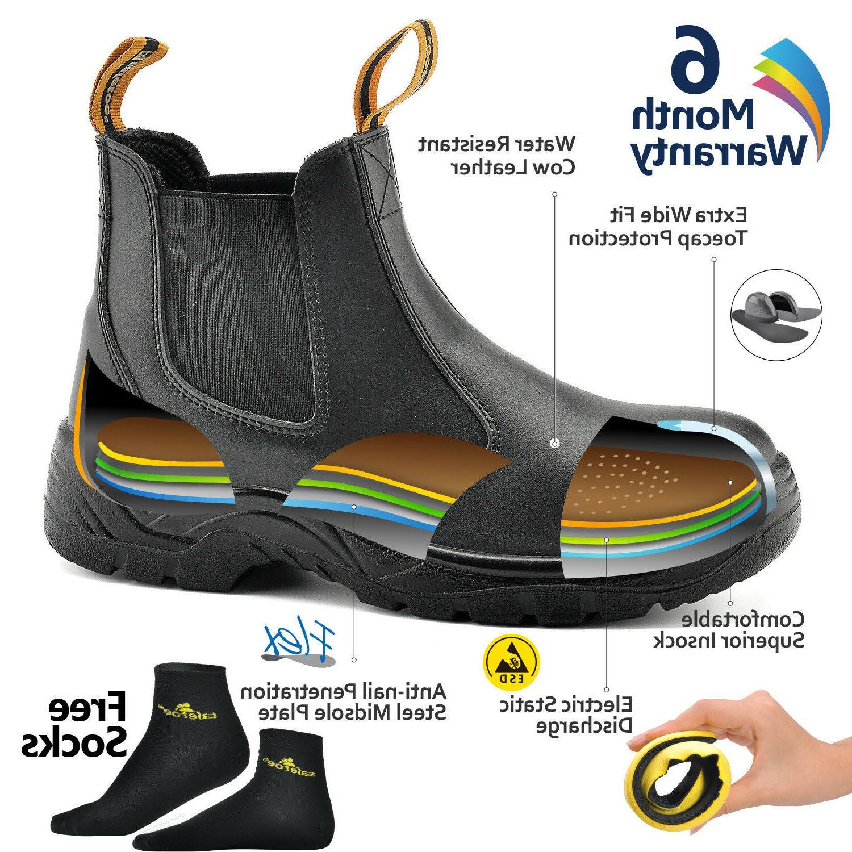Safetoe Mens Shoes Water Slip