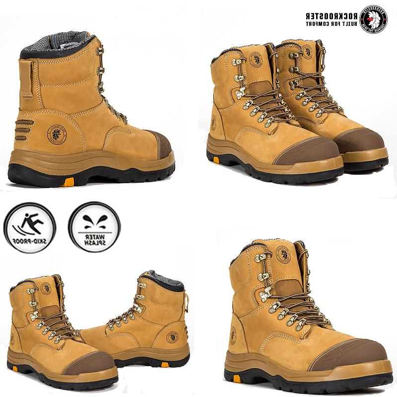 ROCKROOSTER Safety Boots Mens Toe Cap Slip Resistant Shoes