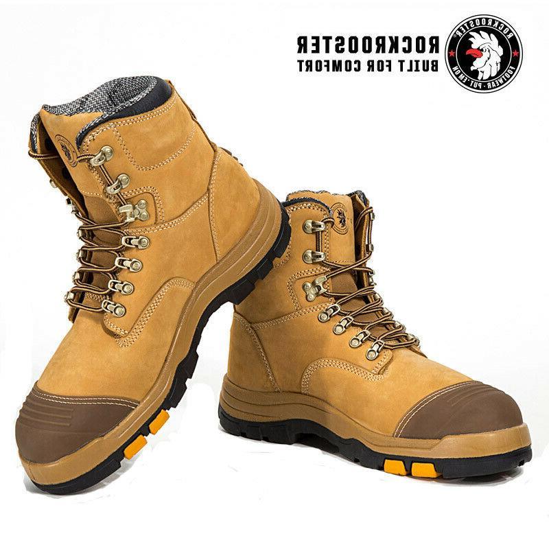 ROCKROOSTER Work Mens Cap Slip Shoes