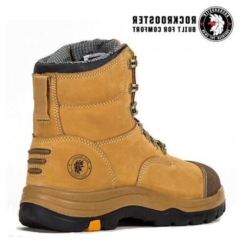 ROCKROOSTER Work Mens Steel Slip up Shoes