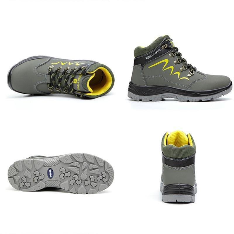 JACKSHIBO Safety Work <font><b>Boots</b></font> For Ankle Shoes <font><b>Steel</b></font> <font><b>Toe</b></font> Construction <font><b>Boots</b></font>