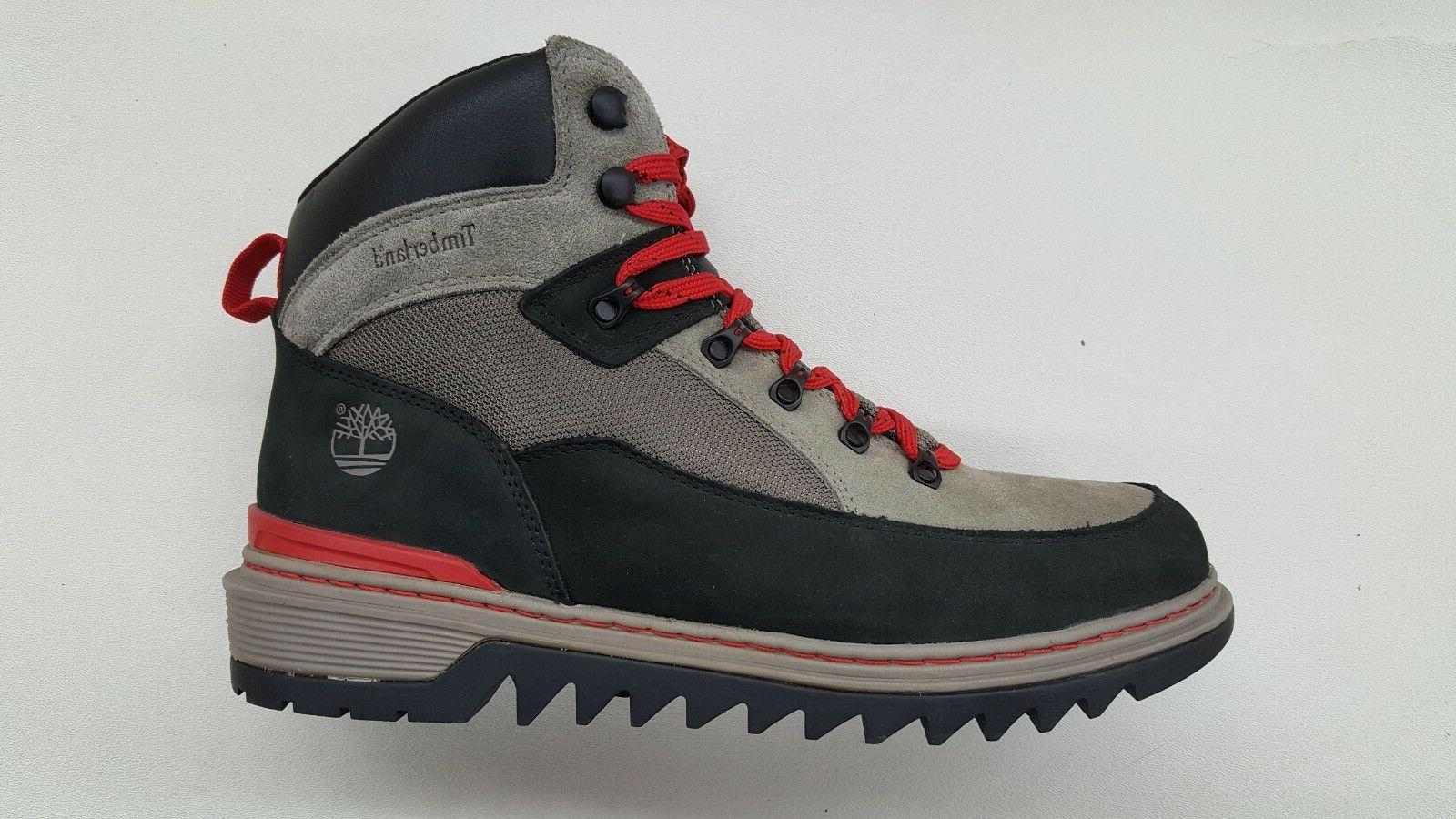TIMBERLAND SHELBURNE SPORT GREY BLACK RED MENS SIZE HIKING B