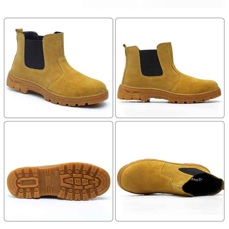 shoes <font><b>men</b></font> <font><b>boots</b></font> <font><b>Steel</b></font> cap Anti-smashing Multifunction Protection Footwear