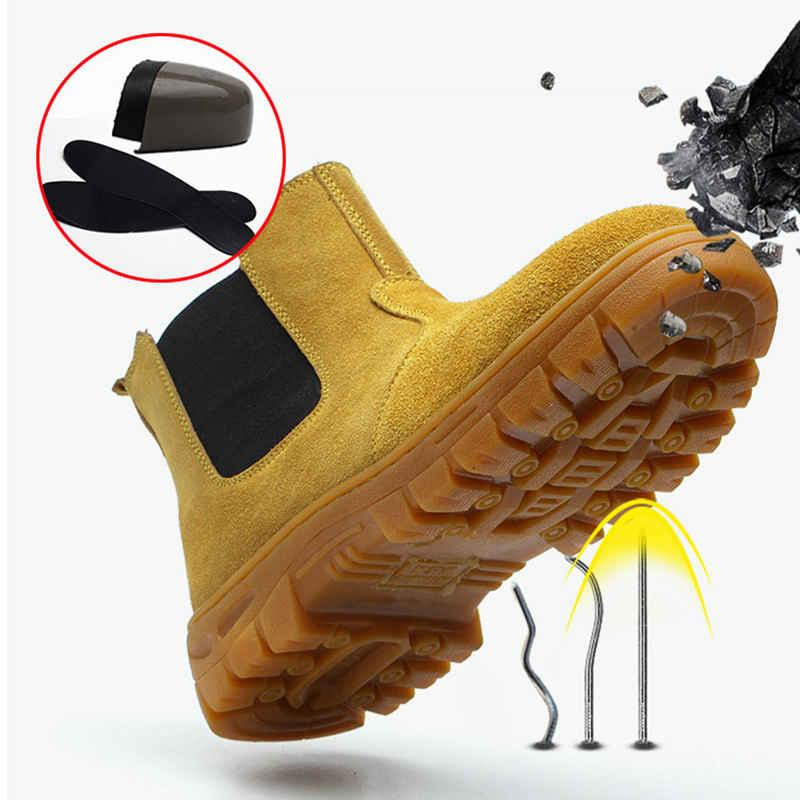 shoes <font><b>men</b></font> Work shoes <font><b>boots</b></font> Anti-smashing anti-piercing Protection