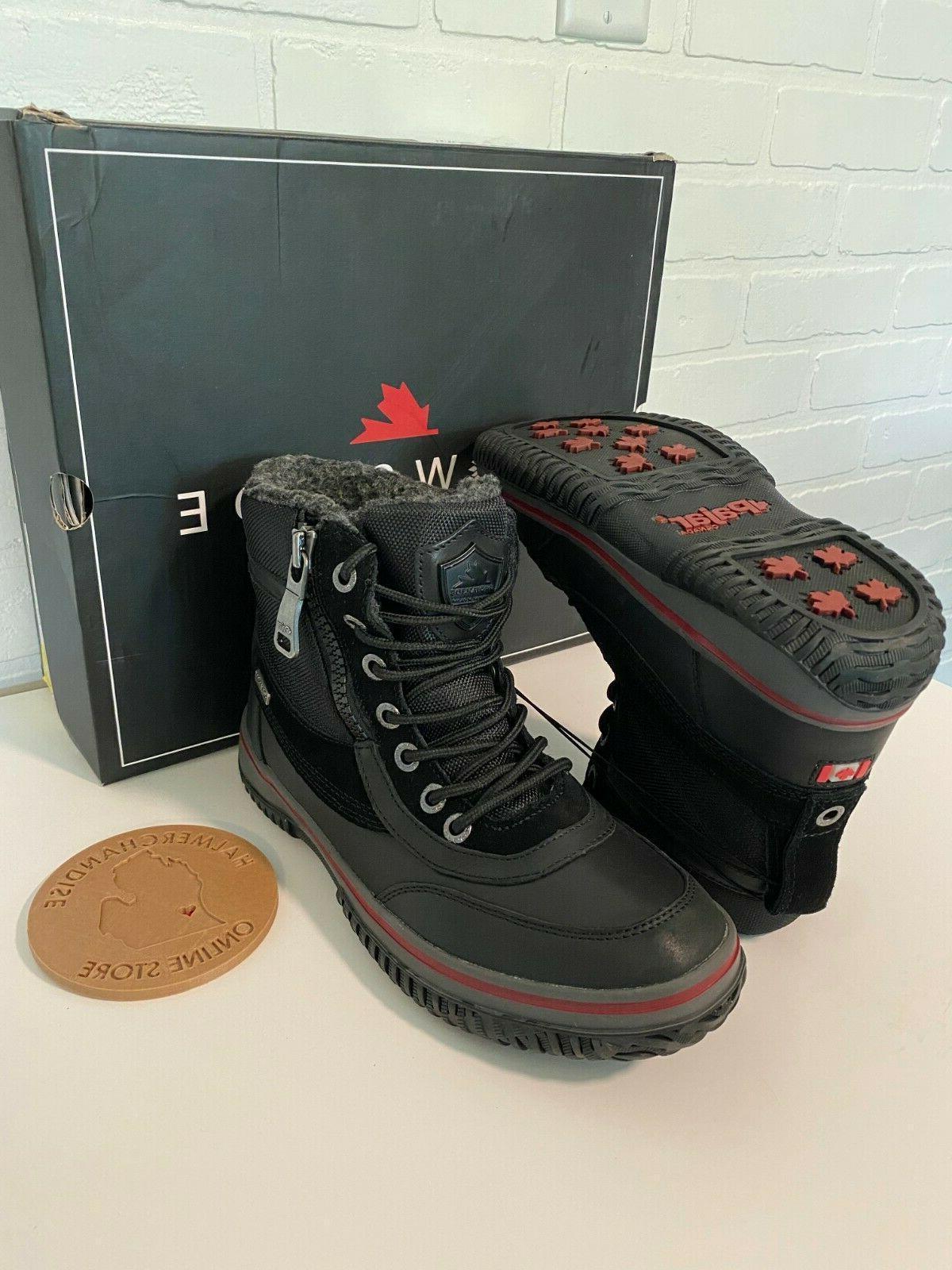 Waterproof Leather/Nylon BLACK