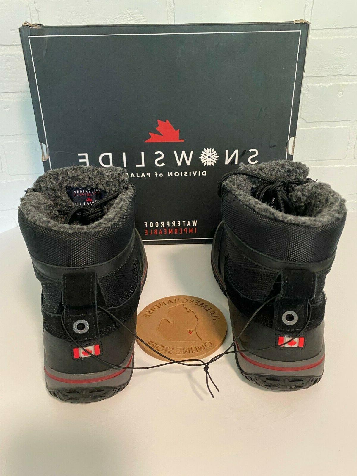Pajar Snowslide Waterproof Leather/Nylon Boots BLACK