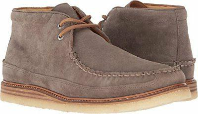 Sperry Men's Gold Crepe Chukka Suede Taupe Grey 10.5 M US