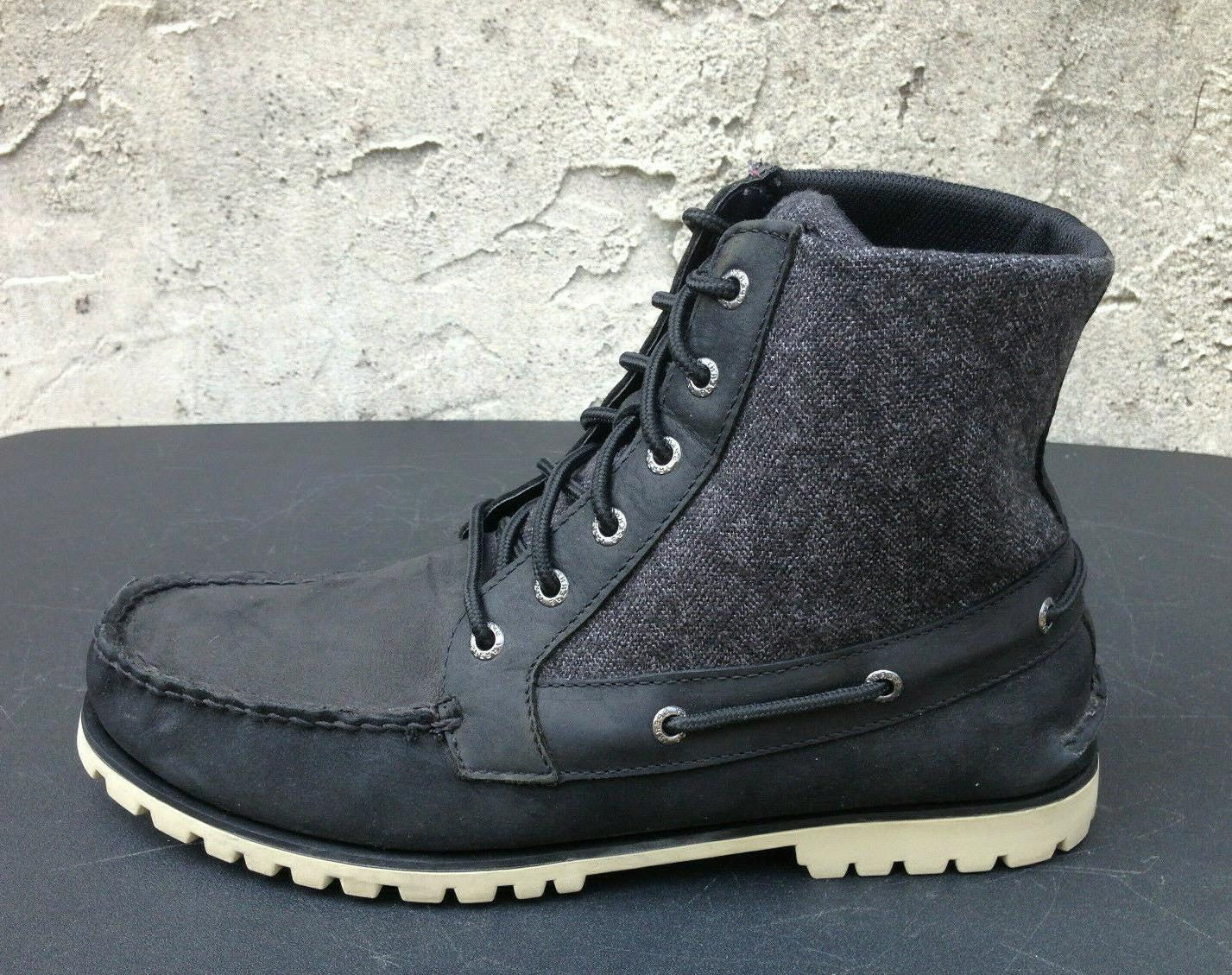 Sperry Carson Leather/Canvas Lace Boots Men's 10.5