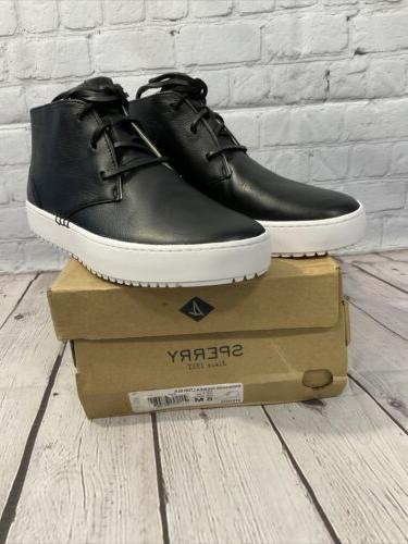 Sperry Men's Leather Chukka Size 8 Black With Box