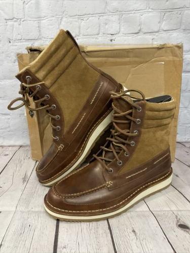 Sperry Top-Sider Leather Dockyard Tan New