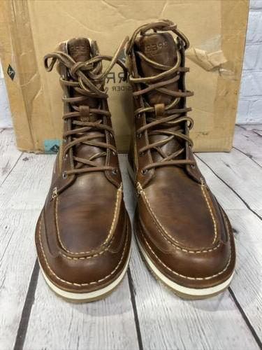 Sperry Men's Dockyard Boots Size Tan Brown With Box