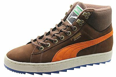 Puma Suede Classic + Rugged Boots Mens Shoes Leather Brown 3