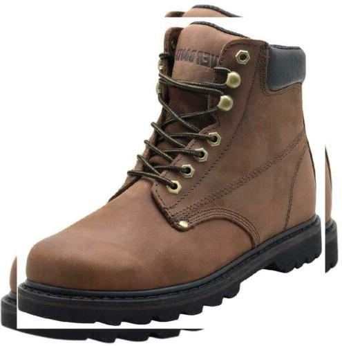 EVER BOOTS Tank Men's Soft Toe Oil Full Grain Leather Insula