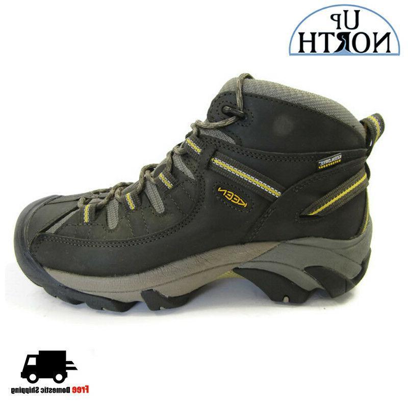 Keen Targhee II Mid Mens Hiking Boot WIDE Black Olive WP NEW