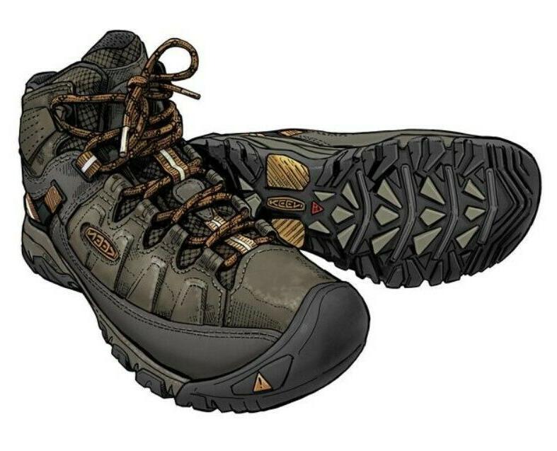 Men's KEEN Targhee III Mid Leather Waterproof Boots In Black