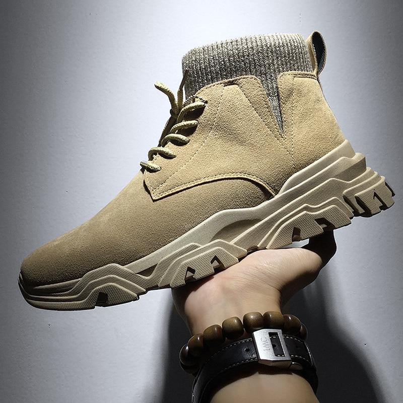 VastWave Warm <font><b>Boots</b></font> <font><b>Leather</b></font> Shoes <font><b>Men</b></font> Snow <font><b>Boots</b></font> For Botas
