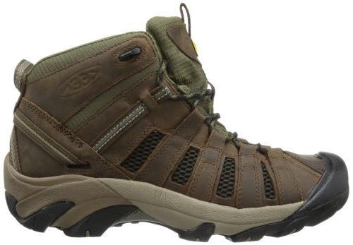 KEEN Voyageur Hiking Boot,Raven/Tawny M US