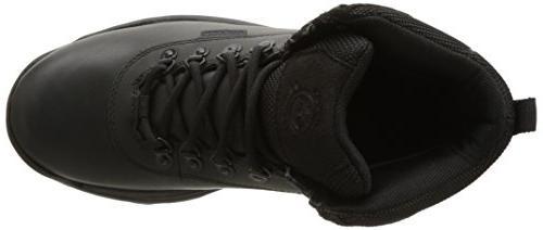 Timberland White Mid Boot,Black,8.5 M US