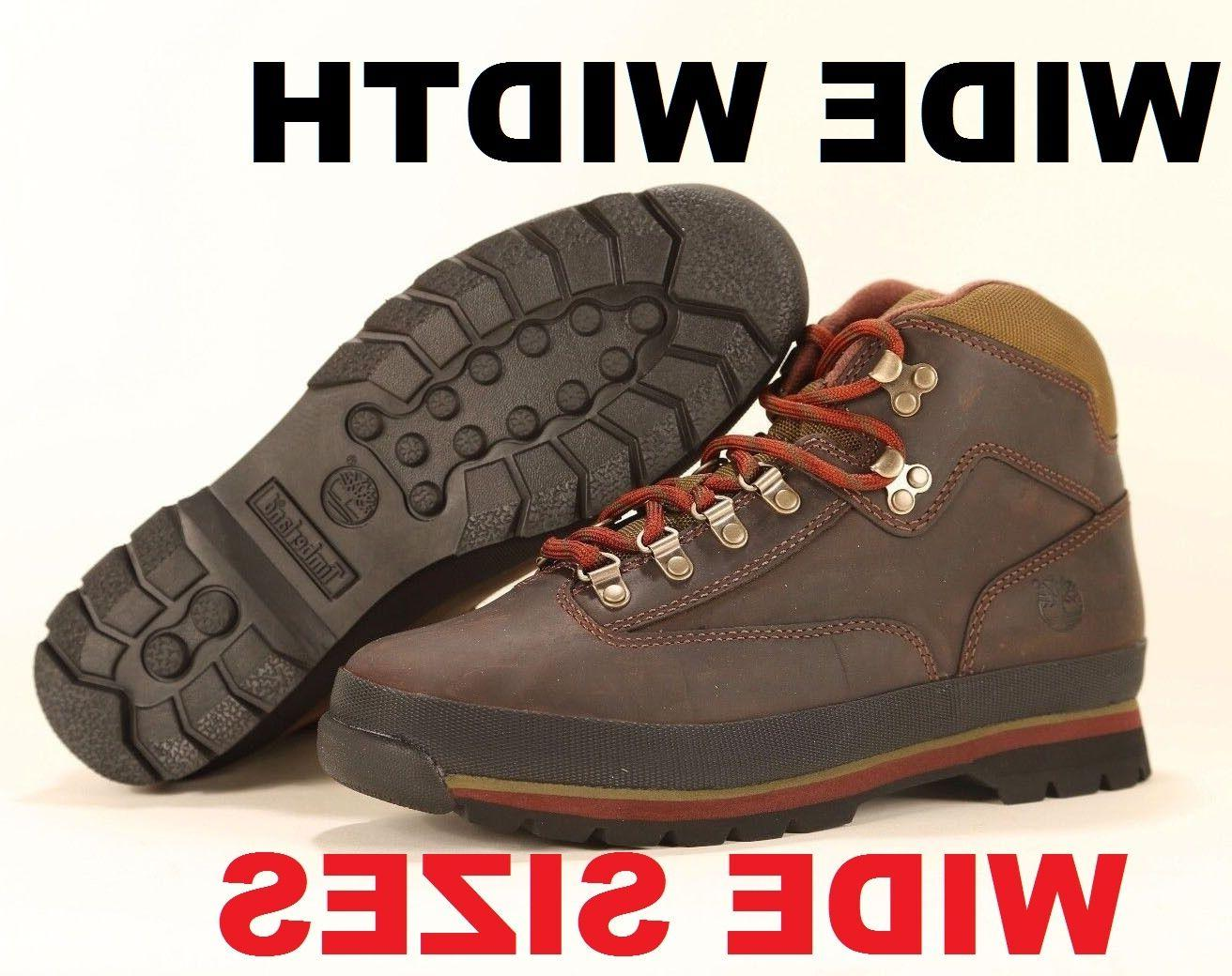 WIDE Timberland MEN'S CLASSIC LEATHER EURO HIKER Brown Ankle