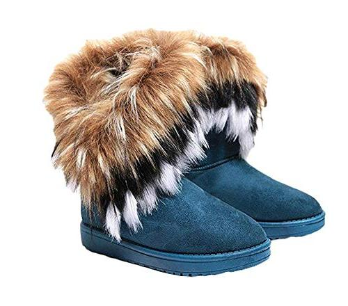 women winter warm snow ankle boots low