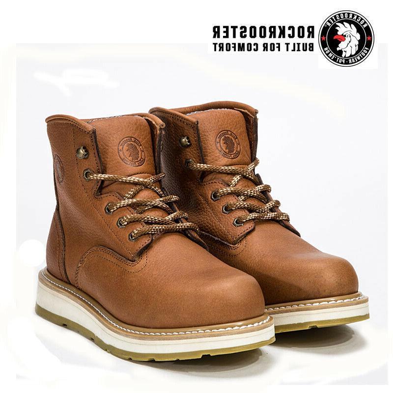ROCKROOSTER Work Boots for Men Safety Shoes Slip Resistant S