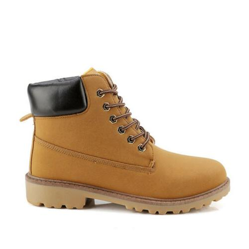 Men's Waterproof Leather Boots Boots Lace Up Size