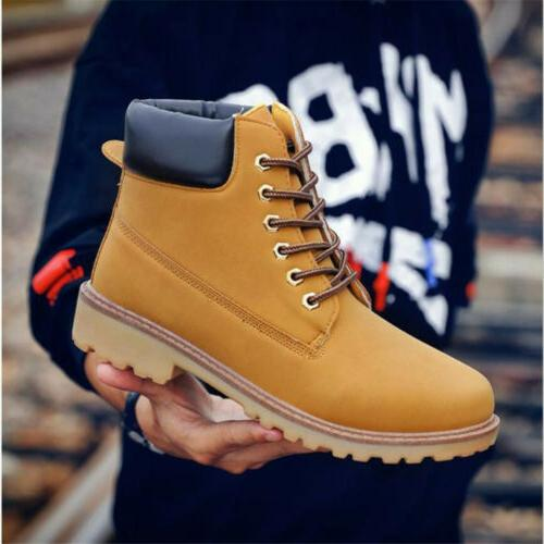 Men's Waterproof Boots Water Casual Lace Ankle Size