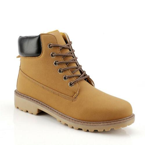 Men's Leather Boots Water Casual Lace Ankle