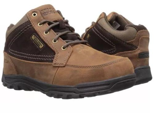 Rockport Works Men's RK6671 Brown Waterproof Steel Toe Hiker