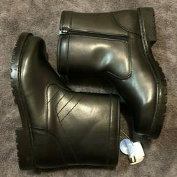 Clarks Lenari Trail Waterproof Snow Rain Boots Black Leather