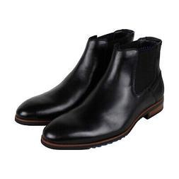 Steve Madden Leston Mens Black Leather Casual Dress Slip On