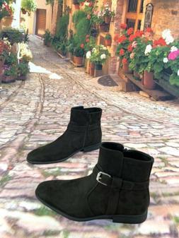 Calvin Klein Lincoln Size 9.5 Men's Suede Dark Brown Ankle