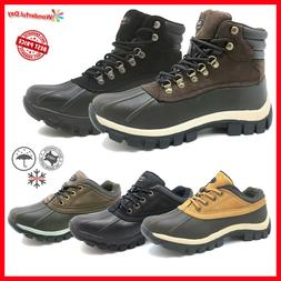 LM Men's Winter Snow Boots Shoes Work Boots Genuine Leather
