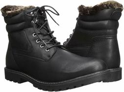 IZOD LORCAN Mens Black Synthetic Leather Lace Up Warm Winter