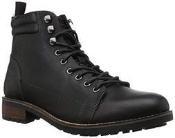 Steve Madden Men's Lorne Ankle Boot, Black Leather, 13 M US