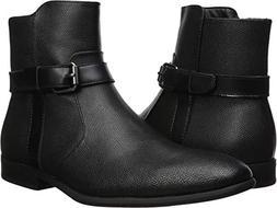 Calvin Klein Men's Louis Ankle Boot, Black Tumbled Leather,