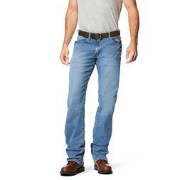 Ariat Men's M4 Rebar Low Rise Boot Cut Stretch Jean, Blue Ha