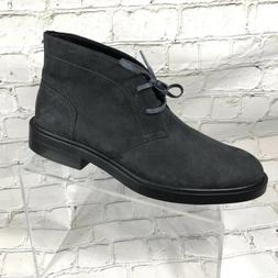 men ankle boots gray suede sz 8