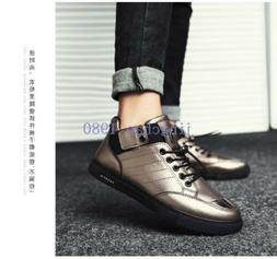 Men Ankle Boots Sport Ridding Casusl Fashion Lace Up Round T