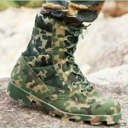 Men Army Military Tactical Hiking Combat Shoes Trekking Dese
