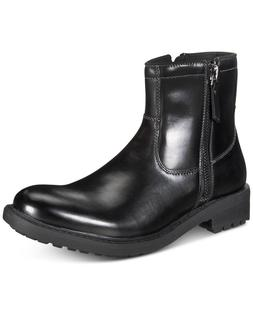 Unlisted by Kenneth Cole Men C-Roam Zip-Up Black Boots Size