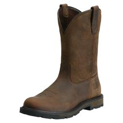Ariat® Men Groundbreaker Pull-On Distressed Brown Work Boot