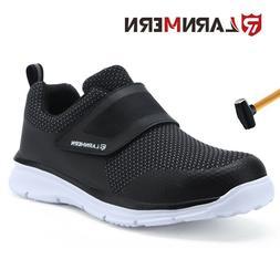 LARNMERN Men Non-slip Safety Shoes Steel Toe Work Anti-punct