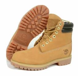 Timberland Men Premium 6 Inch Waterproof Nubuck Wheat Boots