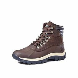 Kingshow Men's 0705 Snow Boots Leather Upper Water Repellent
