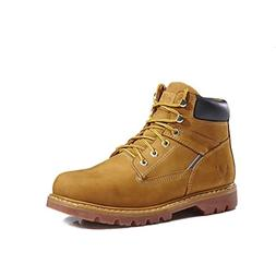KINGSHOW Men's 1406-1 Premium Wheat Full-Grain Leather Plain