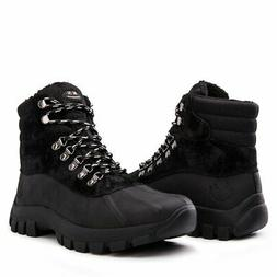 KINGSHOW Men's 1705 Black Snow Boots 11 US