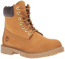 "Timberland Men's 6"" Basic Contrast Collar Boot, Wheat Nubuck"