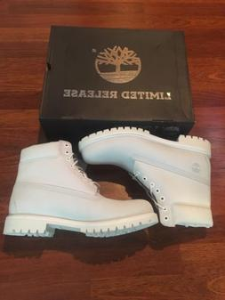 Timberland Men's 6 Inch Boots 100% Waterproof Ghost White TB